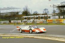 Porsche 956 Preston Henn/Edwards/Keegan at speed Silverstone 1000kms 83